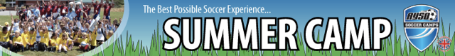 AYSO Soccer Camps Banner