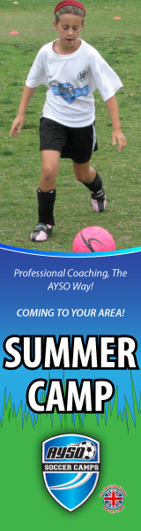 AYSO Soccer Camps Side Banner